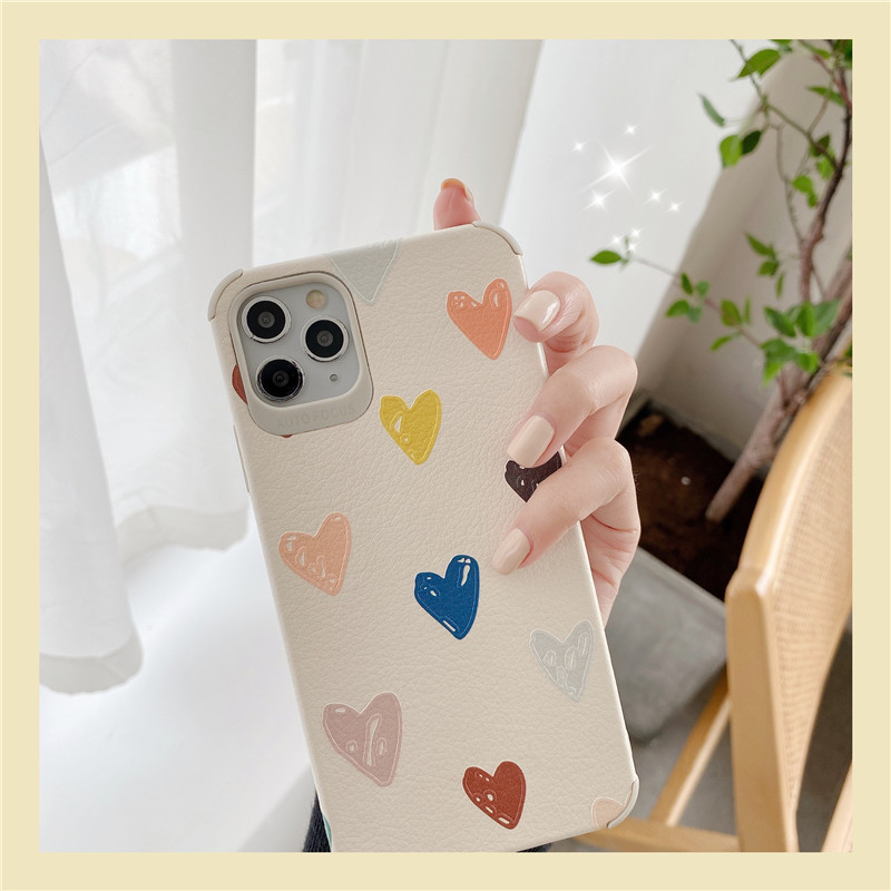 heart phone case wholesale small love for 11Pro Max Apple X XS XR mobile phone case iPhone7p female 8plus silicone NHFI218589