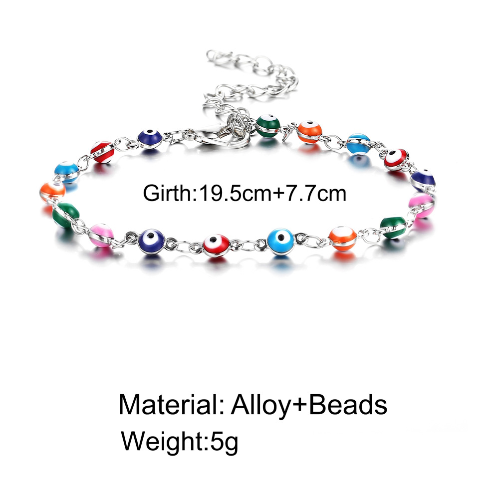 anklet Jewelry Creative Simple Harry Potter Seven Color Water Drop Devil's Eye Anklet  wholesale nihaojewelry NHYI221604