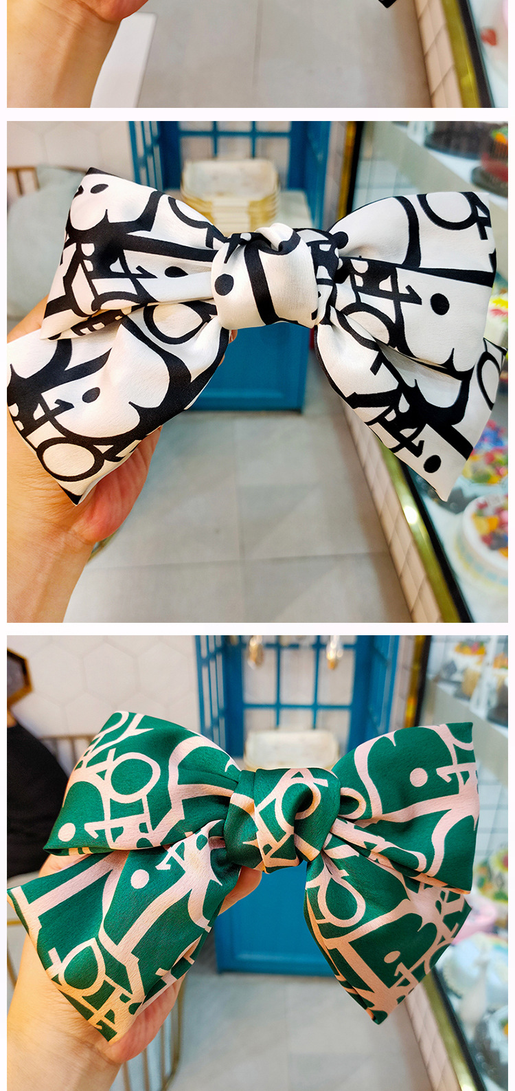 new big bow fabric letter  hairpin wholesale nihaojewelry NHUX243673