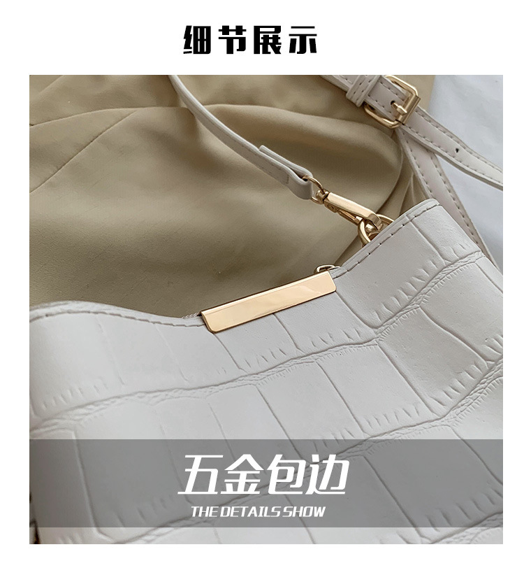 new trendy fashion retro chain shoulder messenger womens large capacity Bucket bag  NHTC247819