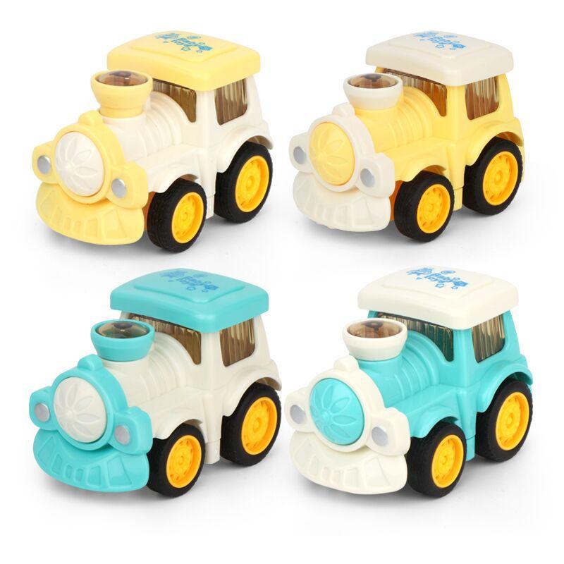 网红儿童惯性工程车玩具卡通小火车跳动公仔惯性车男孩女孩地摊