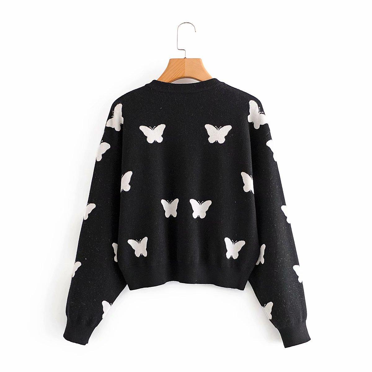 Summer Butterfly Sweater Women's Knit Cardigan Jacket wholesale nihaojewelry NHAM239135