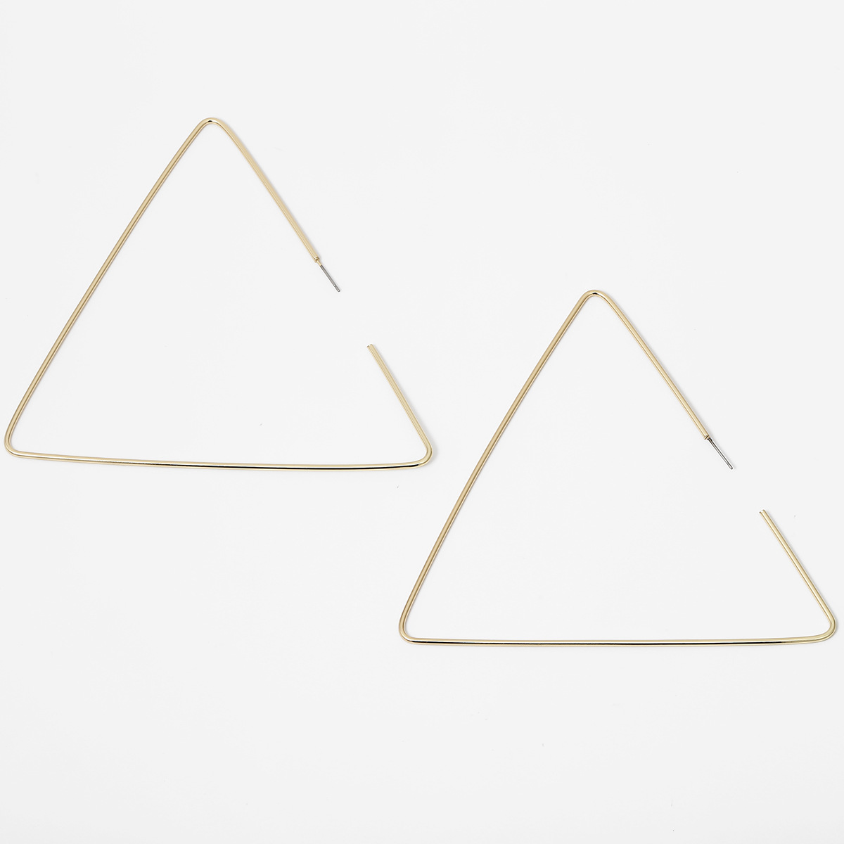 Jewelry fashion exaggerated alloy triangle earrings ladies oversized metal geometric earrings NHXR201311