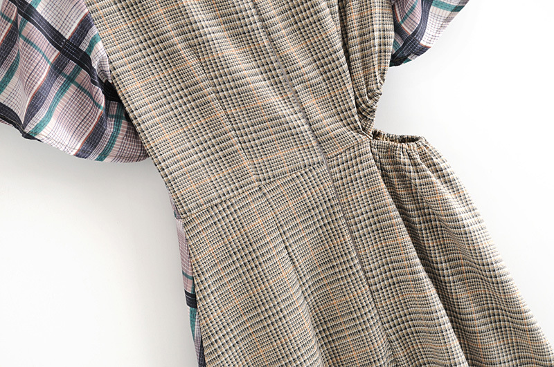 Fashion dress for women new retro plaid dress women wholesale NHAM203392