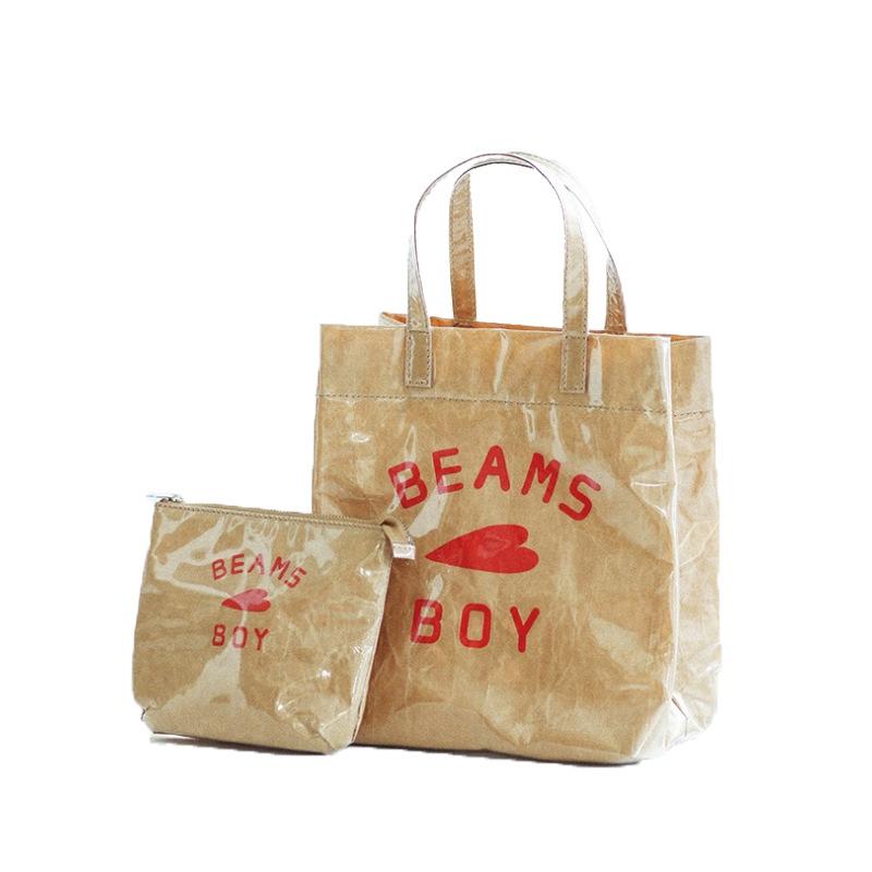 亚马逊杜邦纸袋水洗牛皮纸袋手提袋购物袋休闲单肩包特卫强制袋厂