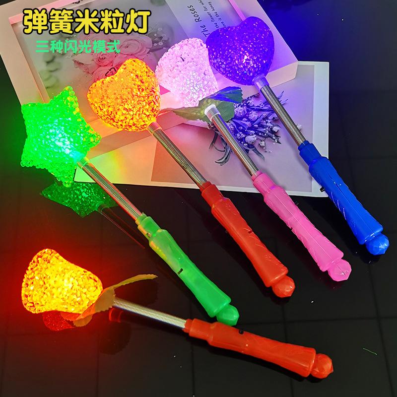 货源米粒灯闪光棒 发光米粒灯 荧光棒星星棒摇摇棒摇头玫瑰灯玩具批发批发