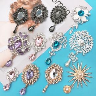 New creative diy diamond pearl flower sun god flower brooch gemstone pendant mobile phone case jewelry accessories female