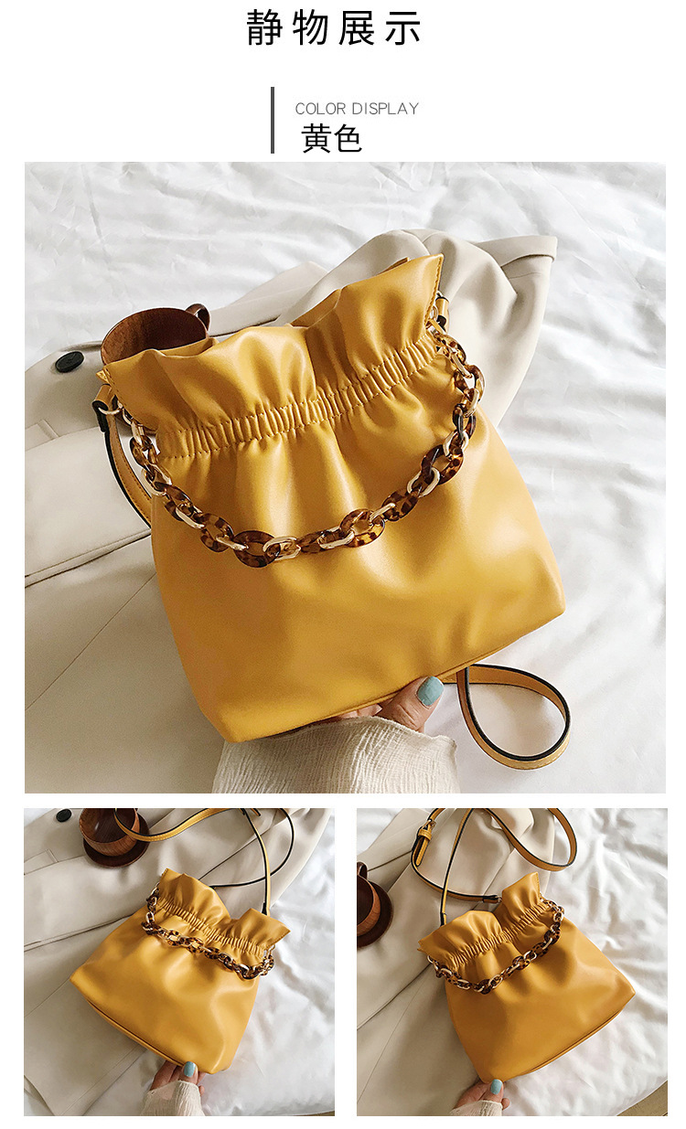 new korean simple fold bucket bag NHJZ313572