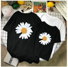 小雛菊親子裝夏裝短袖情侶親子裝t恤兒童母女裝 廠家代理一件代發