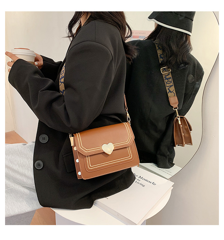 New trend Korean version of the wild one-shoulder messenger bag   broadband small square bag NHTC253964