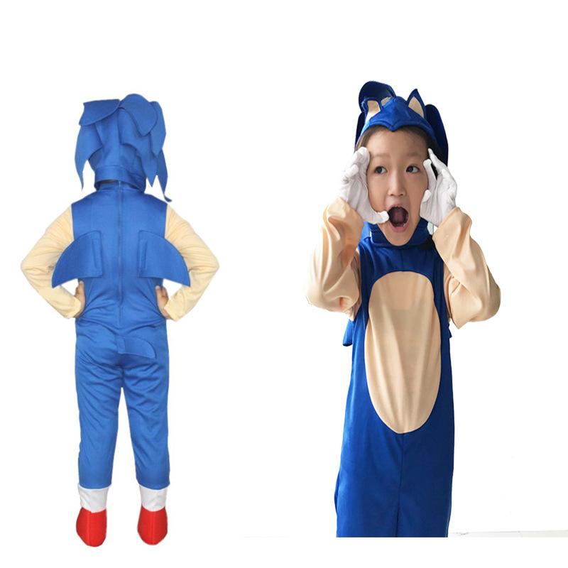 索尼克 卡通音速小子 刺猬索尼克装扮演出服装cosplay2019新款