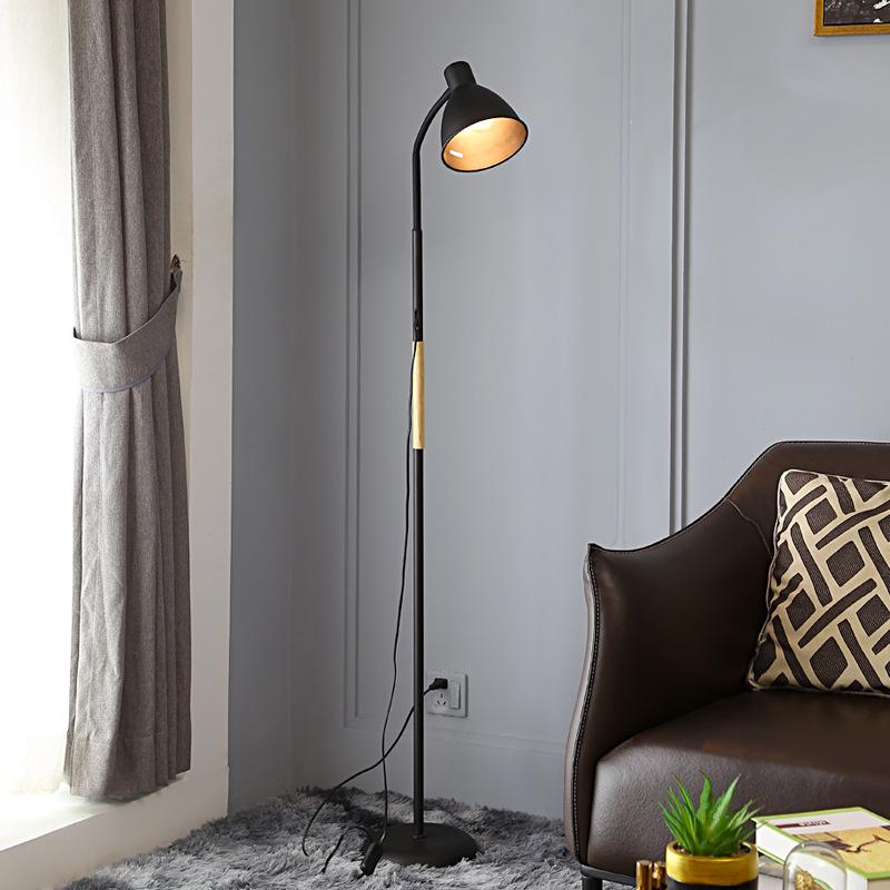 工厂批发 美式简约客厅led落地灯北欧创意网红书房床头卧室落地灯