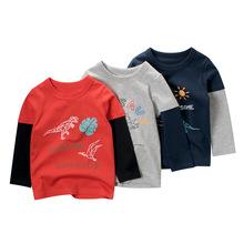 27kids童装秋季新款批发 宝宝衣服儿童长袖T恤男童打底衫一件代货