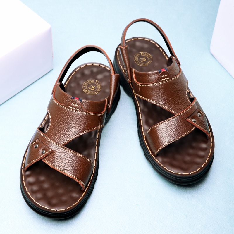 2020 new summer men's casual sandals, to...