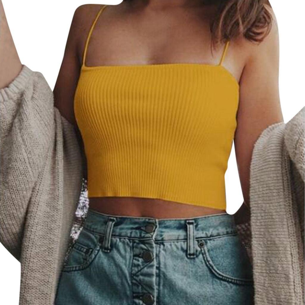 new style ladies fashion suspender vest top NSYF1074