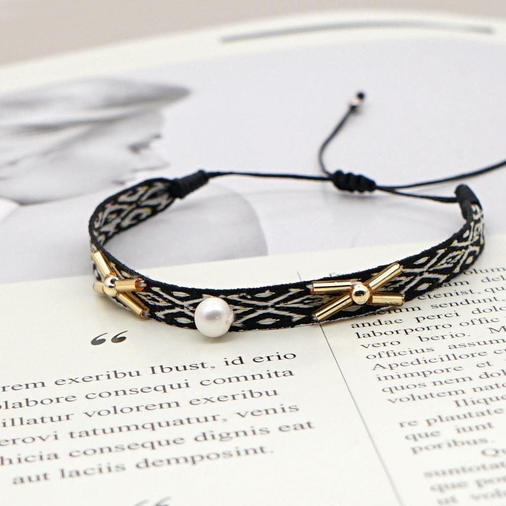 Bohemian multilayered couple bracelet NHGW278988