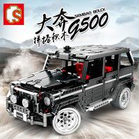 Senbao Building Block Machinery Series Big G Raptor Enzo Car, совместимый со сборкой Lego Puzzle 701960, строительные блоки