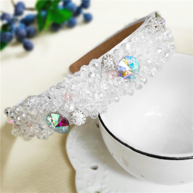 Vintage pearl hair band for women rhinestone hairpin headband wide edge hair accessory suppliers china NHVA202714