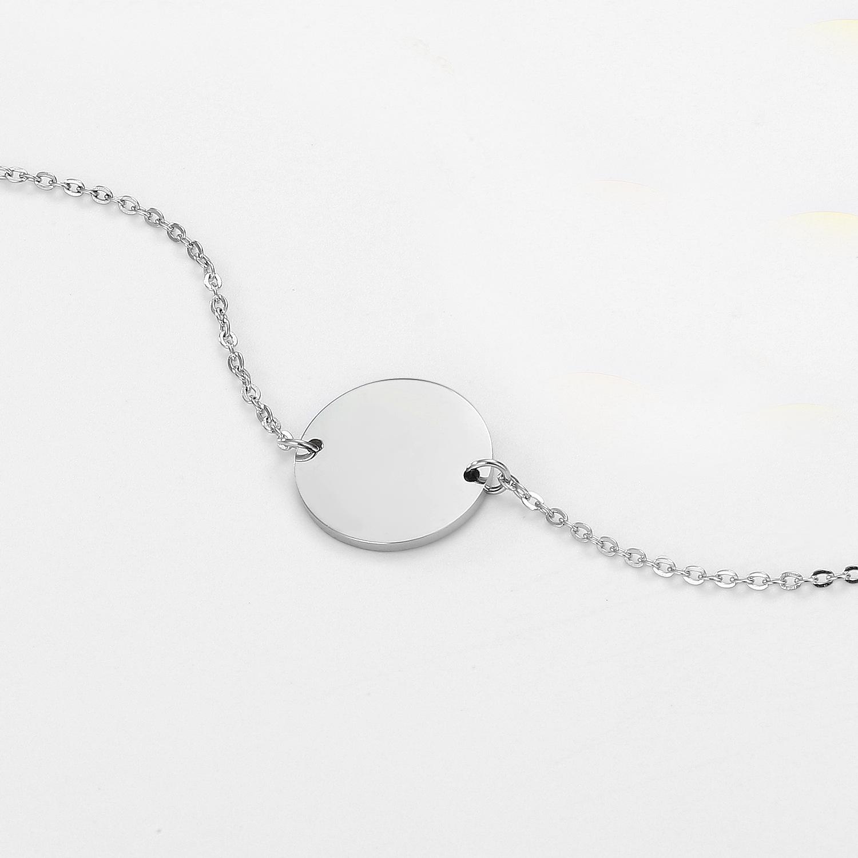Fashion large round bracelet temperament simple jewelry romantic Valentine39s Day gift stainless steel bracelet wholesale yiwu nihaojewelry NHJJ213320