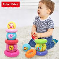 采 包 送 3354 # Fisher-Price Fisher-Price Rainbow Stacked Ball Circle Puzzle Детская мультяшная игрушка-клатч