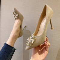 Han edition, 9333-022 fashionable suede tip diamond heels show thin web celebrity sexy women's shoe heel shoes