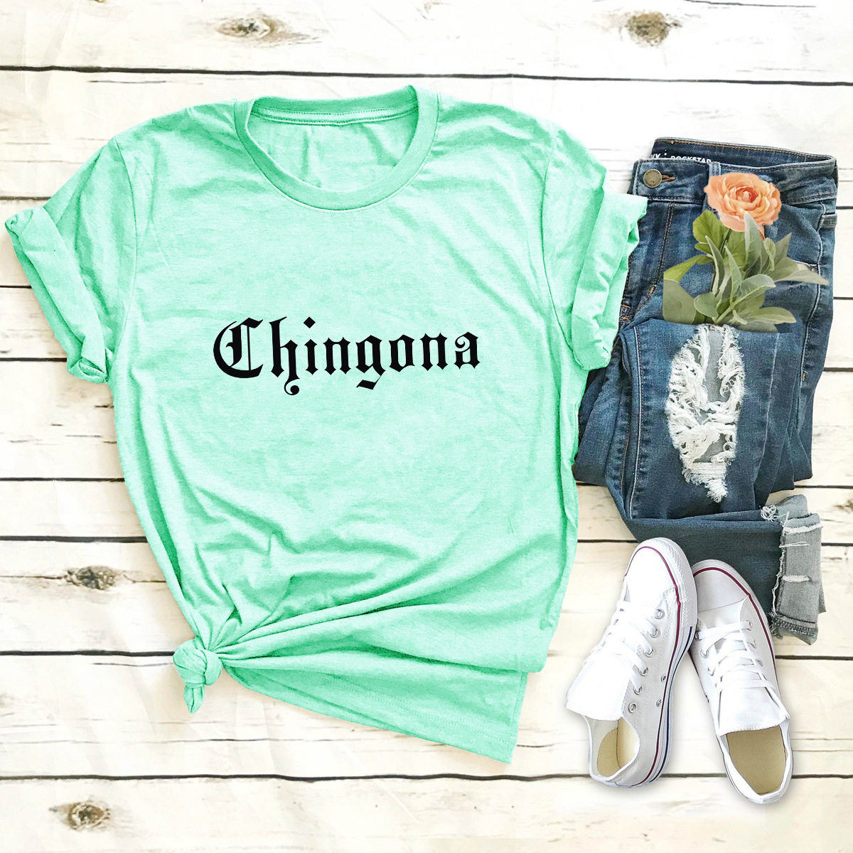 hot casual popular letters short-sleeved T-shirt NSSN1809