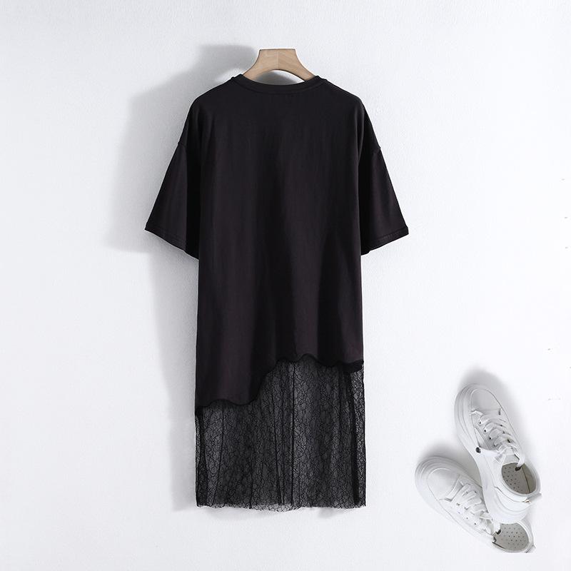 一件代發微商代理一線女裝品牌折扣剪標尾貨專柜V領網紗連衣裙