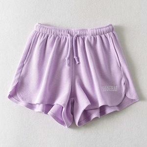 ខោខ្លីនារី Women Elastic Waist Casual Wide Leg Shorts PZ404551