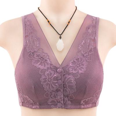 button underwear women's soft cotton vest creative large size rimless bra