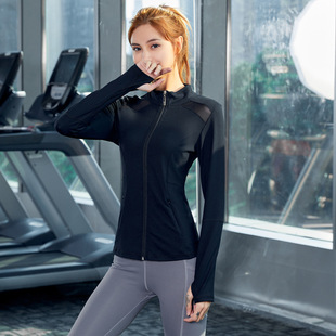 New workout clothes plus size sportswear long-sleeved training tops running clothes cardigan jacket yoga clothes women's spring and summer