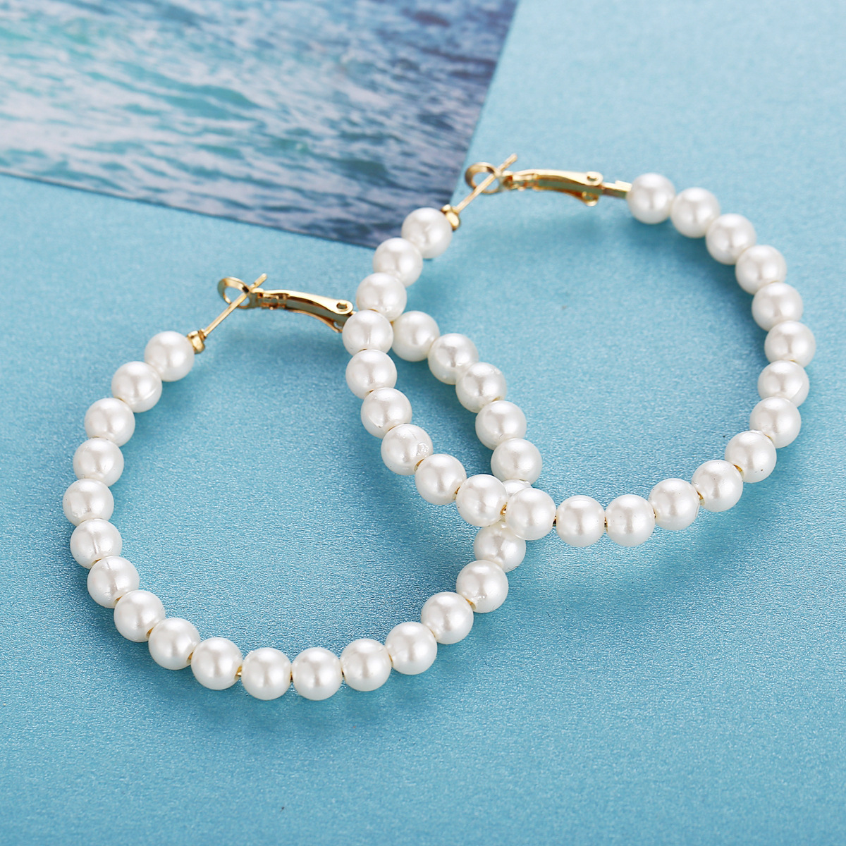 Creative retro simple earrings for new artificial pearl earrings wholesales fashion NHPJ201419