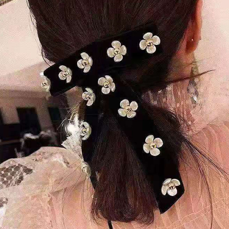 Color Diamond Acrylic Flower Hair Clip NHWJ194712