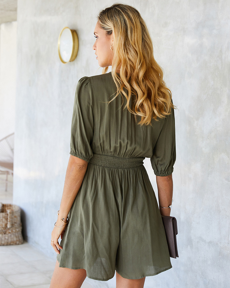 Hot selling fashion solid color jumpsuit wholesale NSKA1583