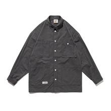 LUOYE洛野 2020秋季新款日系原创口袋工装休闲宽松翻领衬衫C017