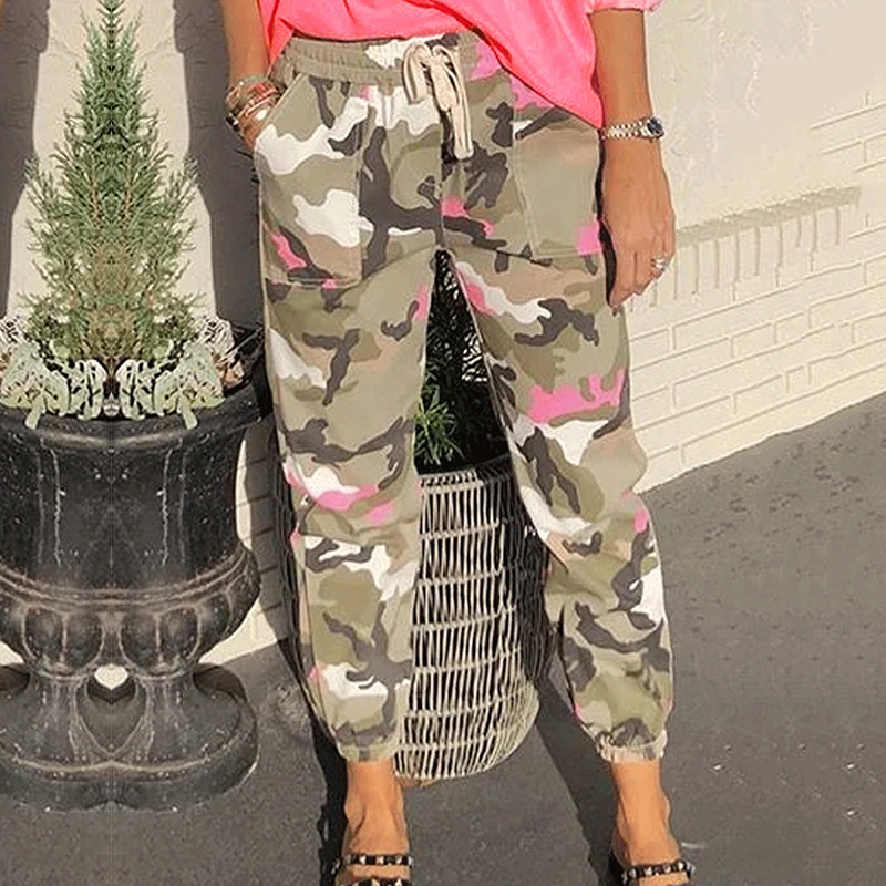 cotton tooling mid-waist casual pants NSKX5780
