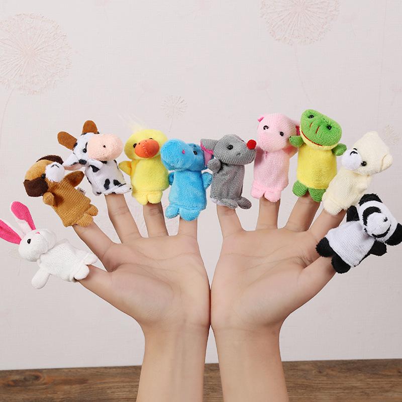 卡通手偶玩偶手指偶婴儿童宝宝讲故事早教益智安抚玩偶毛绒小玩具