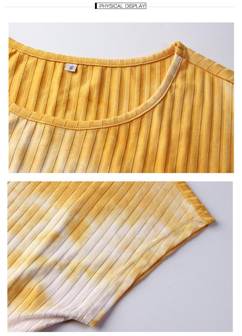 summer women's new pleated tie-dye dress  NSKA975