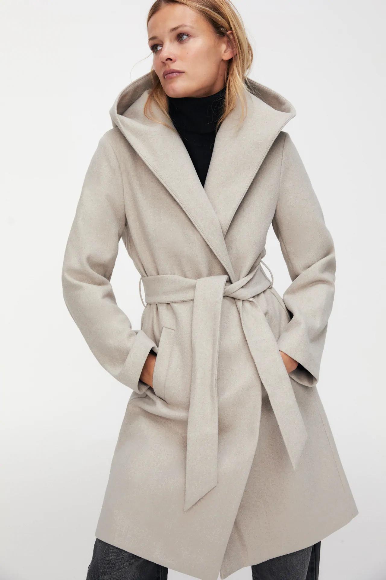 wholesale autumn A hooded women's woolen coat jacket  NSAM3241