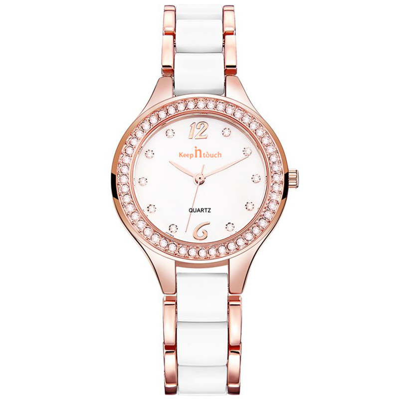 Watch Cross-border Explosion Models Ladies Watches Set With Diamonds British Watches Watches Women's Fashion New Ceramic Watches