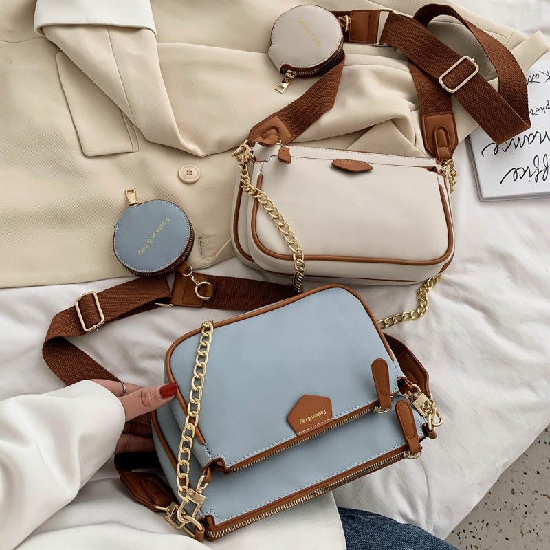 Messenger Bag Women's Broadband Chain Three-piece Shoulder Bag