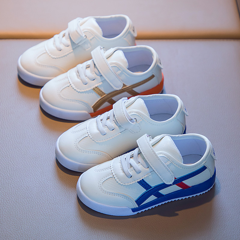 Children's shoes white shoes boys and gi...