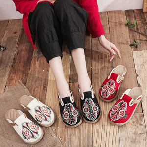 Tai chi kung fu shoes for women ethnic sandals women retro blog embroidered women hand woven shoes