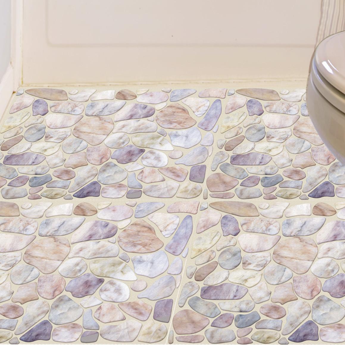 卫生间地面翻新防水耐磨瓷砖贴纸厕所地板自粘地贴浴室3D立体墙贴