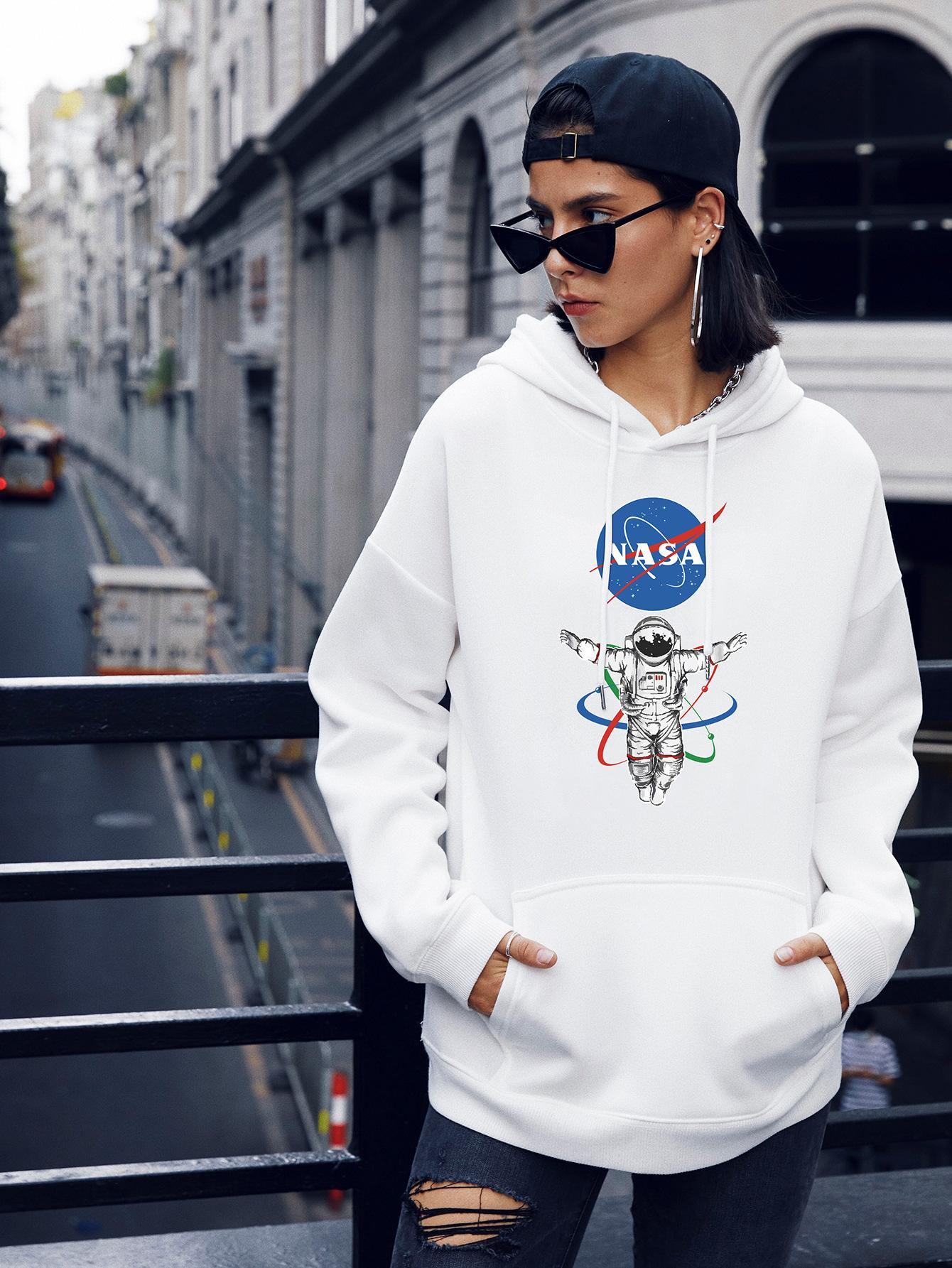autumn and winter women's popular astronaut street casual hooded sweater NSSN1863