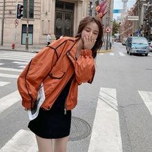 2020年新款女装春秋学生韩版短款上衣宽松显瘦小个子棒球服外套女