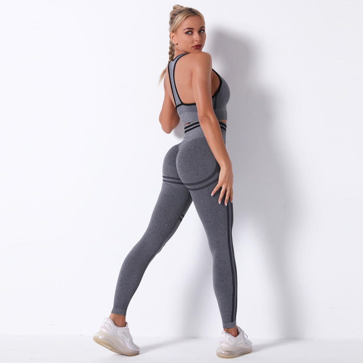 seamless knitted sexy yoga suit  NSLX22860