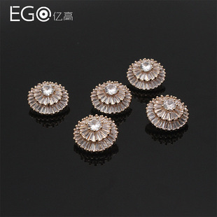 Yigao clothing accessories, shirts, alloy buttons, small buttons, metal buttons, suit buttons, small fragrance buttons, factory direct sales