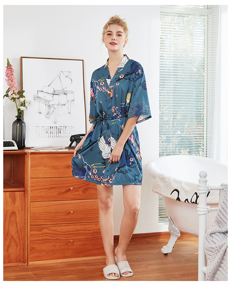 Fashion new  summer sleeves dressing gown plus size home night pajamas wholesale  NHJO236662