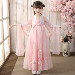 Children Hanfu little girl super fairy girls kimono dresses hanfu Fairy dresses  Ancient Dress Girls tang girls Hanfu