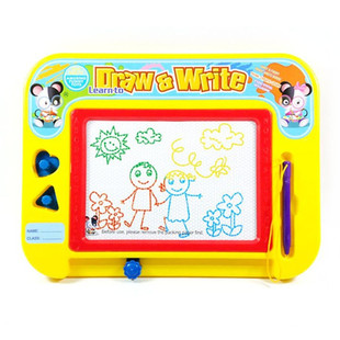 Qiqu children's small drawing board color magnetic writing board/4 color color writing board baby learn to draw 931